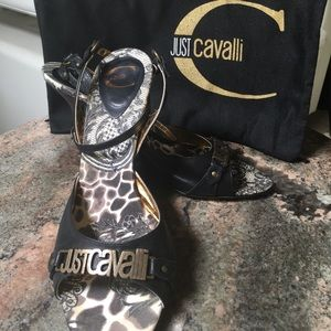 Just Cavalli Shoes - Just Cavalli Cross Ankle Strap Sandal, US 9.5